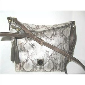 Dooney & Bourke Silver Exotic Leather Bag